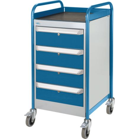 Single Pedestal Bench - 4-drawer cabinet