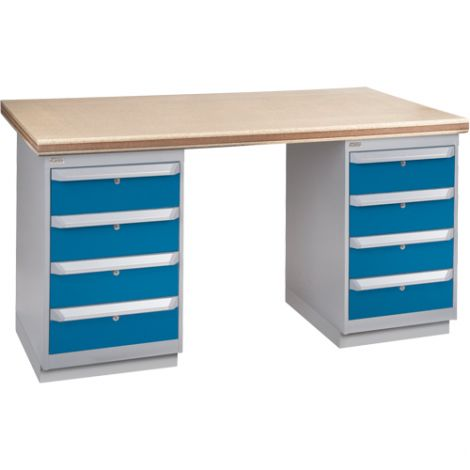 """Pre-designed Workbench - Configuration: Dual Drawers - Height: 34"""" - Width: 60"""""""