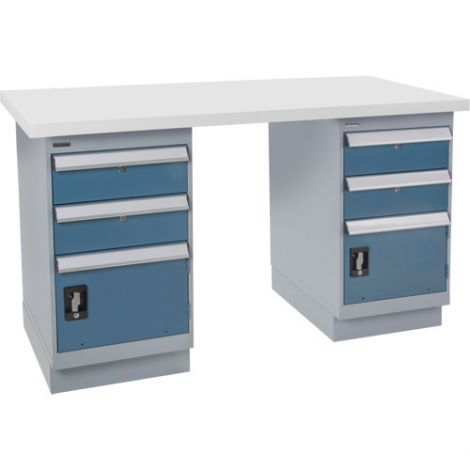 """Pre-designed Workbench - Capacity: 2500 lbs. - Configuration: Dual Drawers - Height: 34"""" - Width: 60"""""""