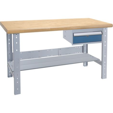 "Pre-designed Workbenches - Capacity: 2500 lbs. - Configuration: Drawers/Shelf - Height: 34"" - Width: 60"""