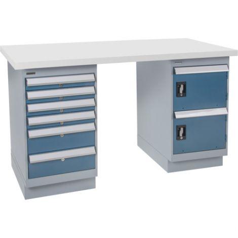 "Pre-designed Workbench - Capacity: 2500 lbs. - Configuration: Door & Drawers - Height: 34"" - Width: 60"""