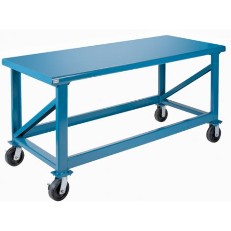 """Extra Heavy-Duty Workbenches - All-Welded - Mobile - Dimensions: 72""""W x 30""""D x 34""""H - Capacity: 3500 LBS."""