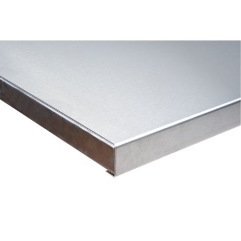 "304 Stainless Steel Wood-Filled Workbench Tops - Depth: 24"" - Width: 48"" - Overall Thickness: 1-3/4"""
