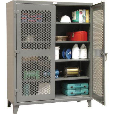"""Heavy-Duty Ventilated Storage Cabinets -  24""""D x 60""""W x 72""""H"""