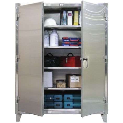 """Extra Heavy-Duty Stainless Steel Cabinet - 60""""W x 24""""D x 72""""H"""