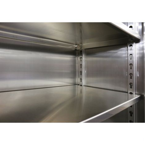 """Extra Heavy-Duty Stainless Steel Cabinets - Extra Shelf - 72""""W x 24""""D"""
