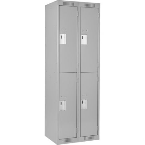 Assembled Clean Line™ Perforated Economy Lockers - Basic Style - No. of Tiers: 2 - Bank of: 2 - Ships Free