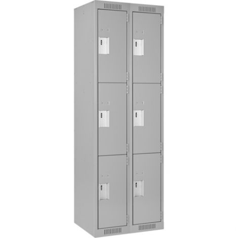 Assembled Clean Line™ Perforated Economy Lockers - Ships Free