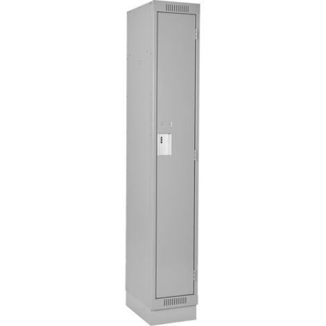 Assembled Clean Line ™ Economy Lockers w/Recessed Base - No. of Tiers: 1 - Bank of: 1 - Ships Free