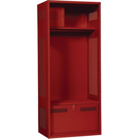 """All-Welded Gear Locker Includes Coat Bar - Colour: Red - Overall Width: 30"""" - Ships Free"""