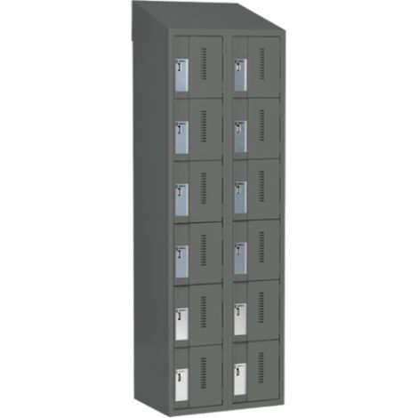 All-Welded Concord™ Heavy-Duty Lockers - Bank of 2 - Colour: Charcoal