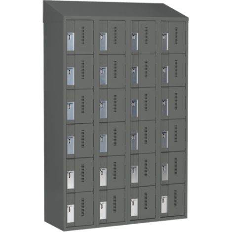All-Welded Concord™ Heavy-Duty Lockers - Bank of 4 - Colour: Charcoal