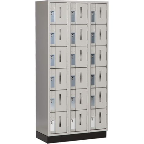 All-Welded Concord™ Heavy-Duty Lockers - Bank of 3 - Colour: Grey