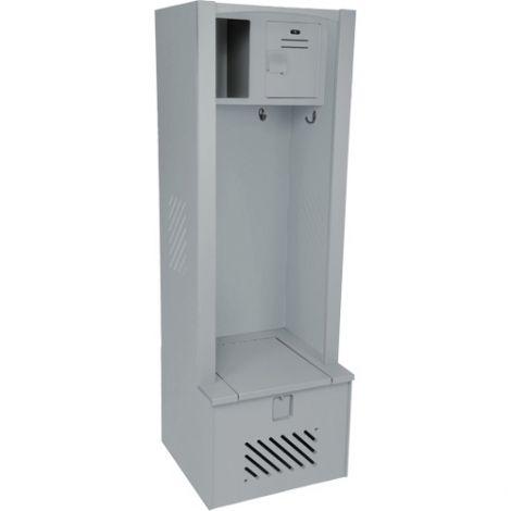 "Lenox® High-Density Polyethylene Gear Locker - 18""D x 24""W x 72""H - Colour Grey"