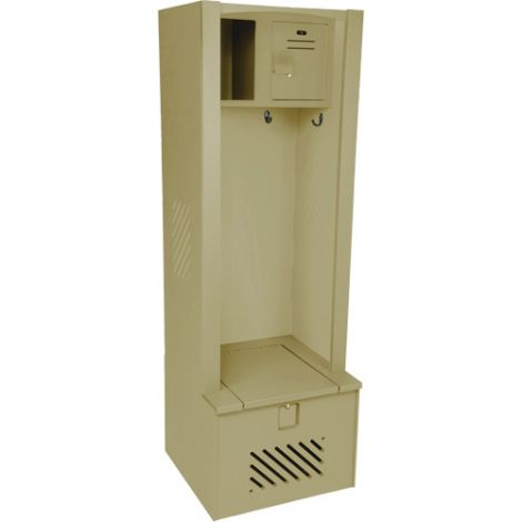 "Lenox® High-Density Polyethylene Gear Locker - 21""D x 24""W x 72""H - Colour: Beige"