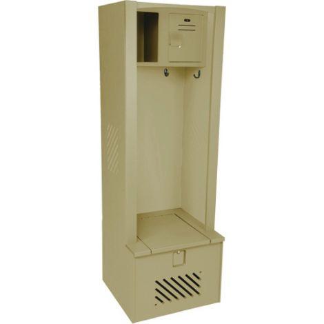 "Lenox® High-Density Polyethylene Gear Locker - 18""D x 24""W x 72""H - Colour: Beige"