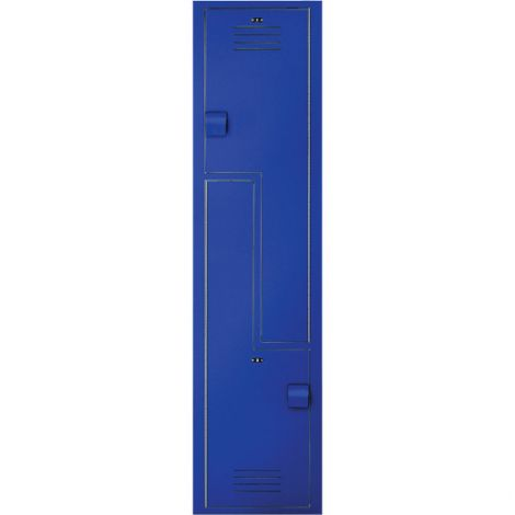 Lenox® Plastic Z-Locker Starter Unit - 2 Tiers - Bank of 1 - Colour: Dark Blue