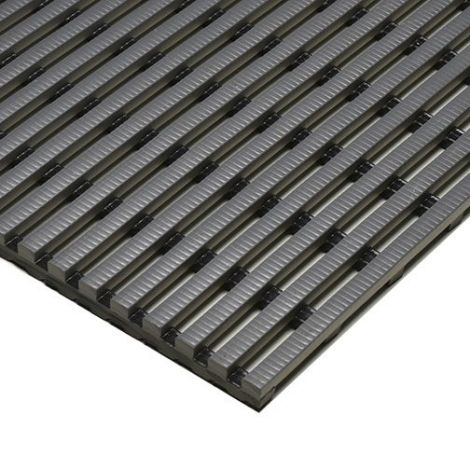 Heronrib Matting - 4' x 33'  - Colour: Grey