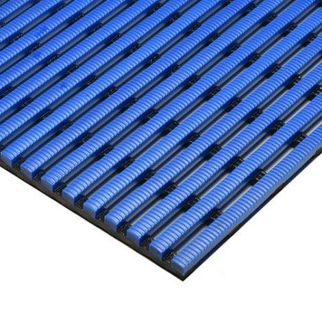 Heronrib Matting - 4' x 33'  - Colour: Ocean Blue