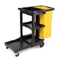 Janitor Carts - Colour: Black