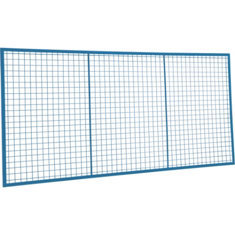Wire Mesh Partition Panel - Dimensions: 8'W x 3'H