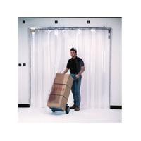 """Strip Curtain Doors - Door Height: 8' - Door Width: 8' - Strip Width: 12"""" - Strip Thickness: 0.120"""""""
