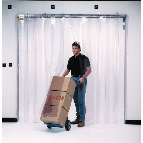 "Strip Curtain Doors - Door Height: 10' - Door Width: 8' - Strip Width: 12"" - Strip Thickness: 0.120"""