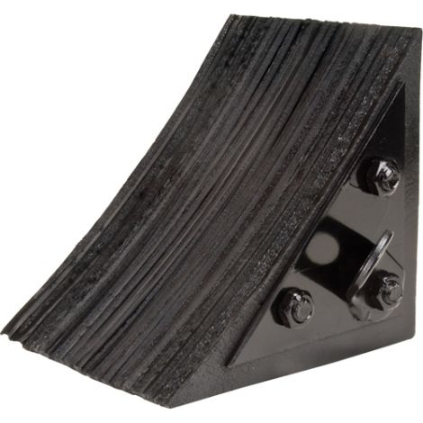 "Laminated Rubber Chock - Dimensions: 8""W x 8""L x 8""H"