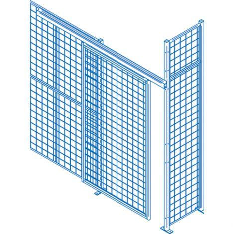 Heavy-Duty Sliding Door - Height: 8' - Width: 8' - Colour: Blue
