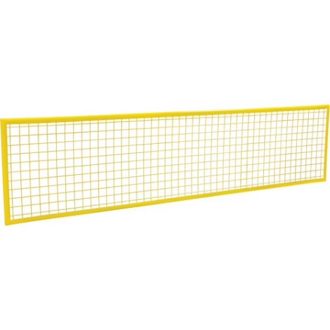 Wire Mesh Partition Panel - Dimensions: 8'W x 2'H