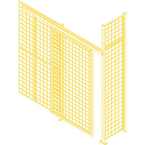 Heavy-Duty Sliding Door - Height: 8' - Width: 8' - Colour: Yellow