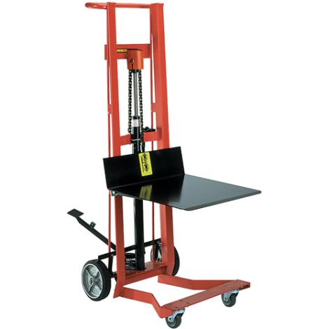 "Hydraulic Platform Lift Stacker - Lifting Capacity: 750 lbs. - Platform Dimensions: 22""W x 22""D - Ships Free"