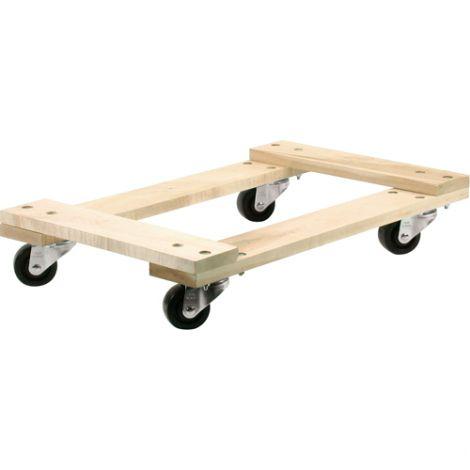 """Wood Dollies - Dimensions: 18""""W x 24""""L - Platform Type: Standard"""