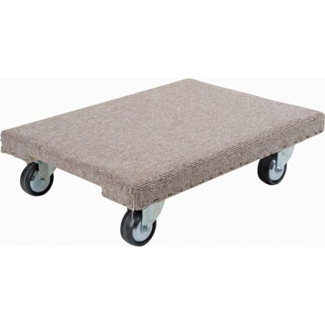 "Wood Dollies - Dimensions: 18""W x 24""L - Platform Type: Carpeted"