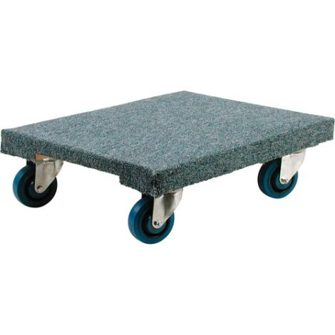 "Wood Dollies - Dimensions: 18""W x 24""D - Platform Type: Carpeted"