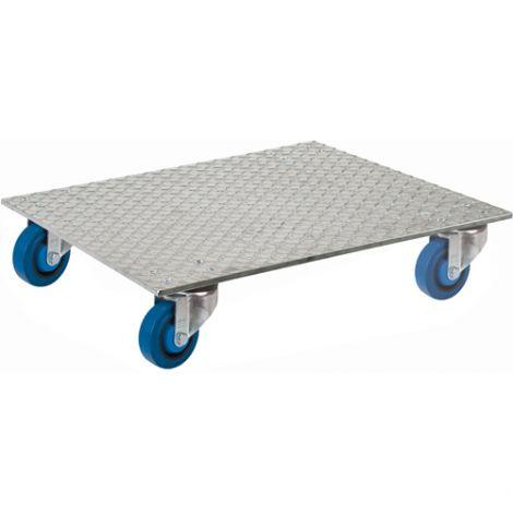 "Aluminum Deck Dollies - Dimensions: 24""W x 24""D"