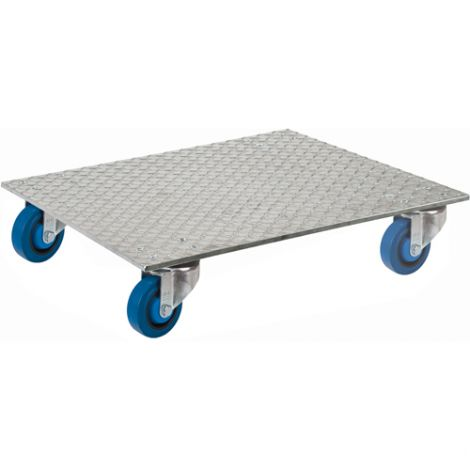 "Aluminum Deck Dollies - Dimensions: 18""W x 18""D"