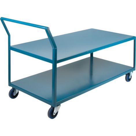 """Heavy-Duty Low Profile Shop Carts - Shelf Size: 24""""W x 60""""D"""