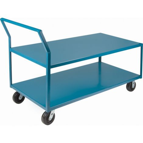 "Heavy-Duty Low Profile Shop Carts - Shelf Size: 30""W x 48""D"