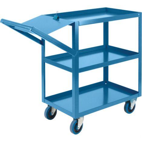 "Order Picking Carts - Shelf Size: 18""W x 30""D - No. of Shelves: 3"