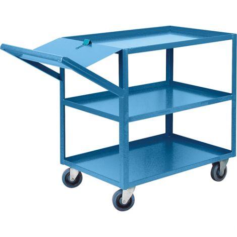 "Order Picking Carts - Shelf Size: 24""W x 48""D - No. of Shelves: 3"
