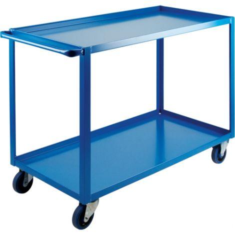 "Heavy-Duty Shelf Carts - 36"" Overall Height - Shelf Size: 24""W x 48""D - No. Shelves: 2"