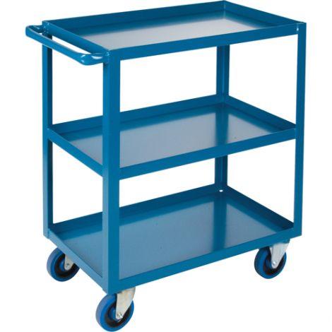 "Heavy-Duty Shelf Carts - 36"" Overall Height - Shelf Size: 18""W x 30""D - No. Shelves: 3"