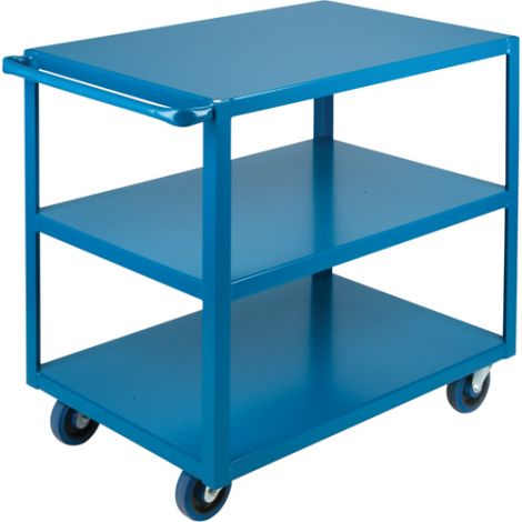 "Heavy-Duty Shelf Carts - 36"" Overall Height - Shelf Size: 24""W x 36""D - No. Shelves: 3"