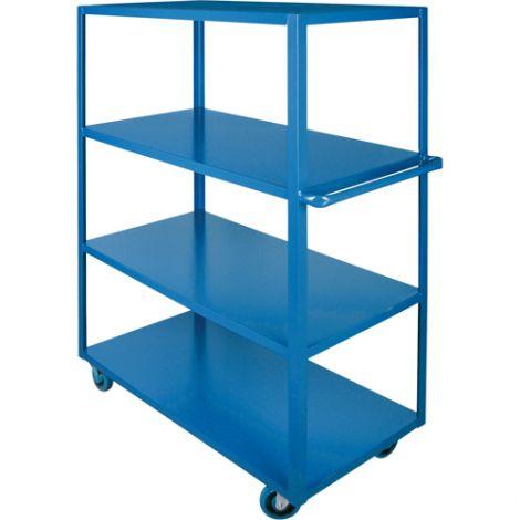 "Heavy-Duty Shelf Carts - 61"" Overall Height - Shelf Size: 24""W x 48""D - No. Shelves: 4"