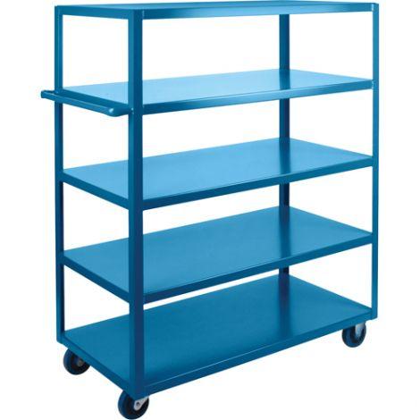 "Heavy-Duty Shelf Carts - 61"" Overall Height - Shelf Size: 24""W x 36""D - No. Shelves: 5"