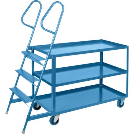 """Stock Picking Carts - 24""""W x 48""""D - 3 Step"""