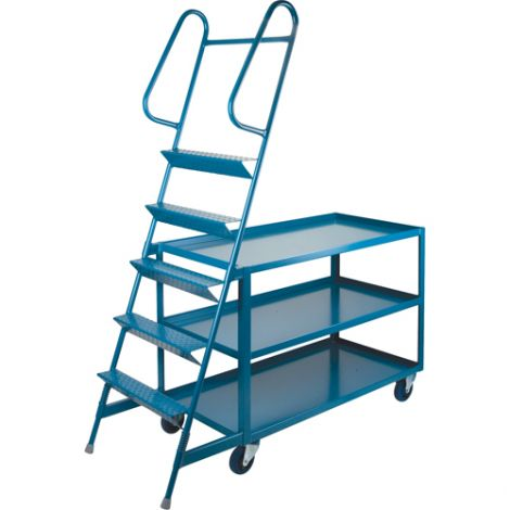 """Stock Picking Carts - 24""""W x 36""""D - 5 Step"""