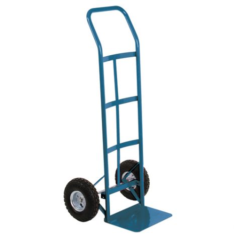 """Pneumatic Wheel Hand Truck (Steel) - Handle Type: Continuous Handle - Nose Plate Dimension: 14""""W x 9""""D - Wheel: Pneumatic"""