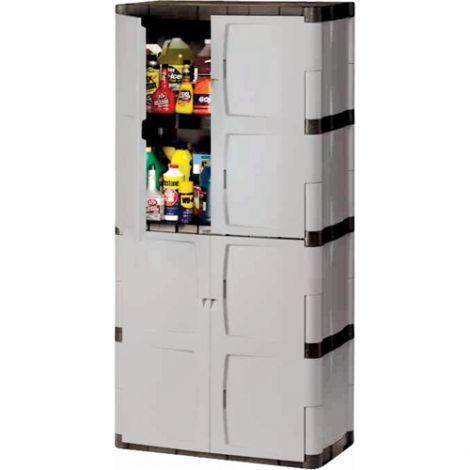 "Heavy-Duty Rubbermaid® Plastic Cabinets - 36""W x 18""D x 72""H"
